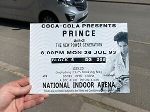 Prince Ticket 1993 Metal Sign A4 Size,