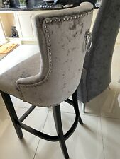Crushed Velvet Knocker Bar Stool