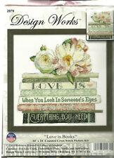 Cross Stitch Kit Design Works Love Is Books Romantic Saying #dw2979