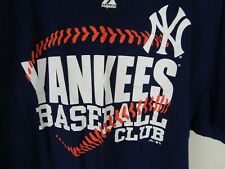 New York Yankees Baseball Club Majestic Size 2Xl 100% Cotton T-Shirt