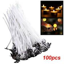 "100Pcs 6"" 15cm Candle Wicks Lasting Cotton Core Bright Candle Making Supplies Us"