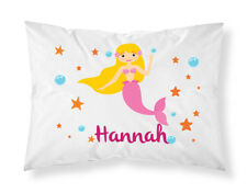 Personalised Children Mermaid Pillowcase Printed Gift Custom Made Print 107