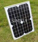10W 12V solar panel for camper /caravan /boat 10 watt trickle charger Mono New