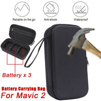 For DJI Mavic 2 Pro&Zoom Portable Battery Case Carrying Bag Store 3 Battery Bag