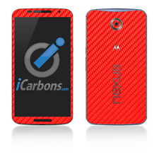 Nexus 6 Skin - Red Carbon Fibre skin by iCarbons