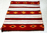 "Antique Navajo Banded Rug c.1920s 50"" x 39"""