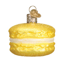 Old World Christmas Yellow Macaron (32242)N Glass Ornament w/Owc Box