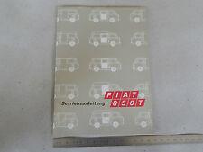 MANUALE USO E MANUTENZIONE ORIGINALE FIAT 850 T 1975 LINGUA TEDESCO