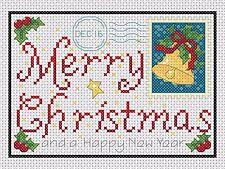 Gráfico de punto de cruz-Tarjeta Felicitación de Navidad no. 1-TSG 37