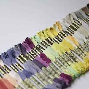 DMC Stranded Cotton Cross Stitch Thread Skein Mouline Colours 01 to 35 8m