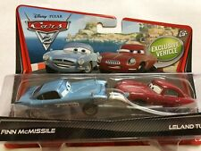 Disney Pixar cars Cars 2 Finn Mcmissile & Leland Turbo 2-Pack USA Packaging