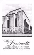 NY, New York City    ROOSEVELT HOTEL~Madison Avenue    c1950's B&W Postcard