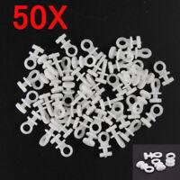 50XCurtain Hooks for Curtains White Plastic Nylon for Curtain Rings Header Tape