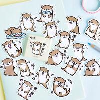 45pcs cute otter series paper sticker diy diary decor for album scrapbooking UK
