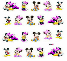 NAIL art adesivo acqua trasferimento Decalcomanie Adesivi MICKEY & MINNIE MOUSE (ds056)