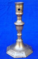 Untouched 17th century French bronze acorn knopped socket candlestick circa 1660