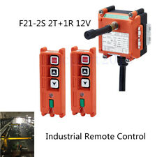 One Step Buttons Wireless Industrial Radio Remote Control AC/DC 12V 2T+1R