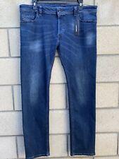 Diesel SAFADO-R Denim Jeans Regular Slim Straight Mens Size 38x32 MSRP $178