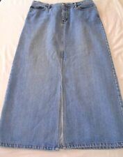 Gap Factory Store Womens Denim Maxi Modest Blue Jean Skirt Size 14 Light Wash