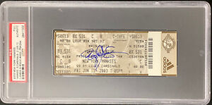 Roger Clemens Signed Full Ticket 6/13/03 300 Wins 4000 Ks NYY Autograph PSA/DNA