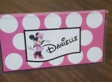 Minnie Mouse Disney inspired personalized check book cover