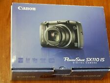 CANON PowerShot SX110 IS 9.0MP Digital Camera PARTS / REPAIR W/Box n Papers