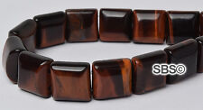 Red Tiger Eye 10x10mm 2-Hole Square Stone Beads (16 inch strand)