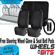 Black Mesh Cloth Car Seat Cover Steering Glove fit VW Golf MK1 MK2 MK3 MK4 MK5
