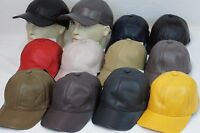 New 100% Genuine Real Lambskin Leather Baseball Cap Hat Sport Visor 12 COLORS