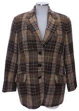 Bogner Blazer 44 (D) braun Karo Wolle Sakko Jacke top