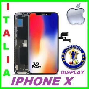 LCD DISPLAY ORIGINALE TIAMNA PER APPLE IPHONE X TEN 10 SCHERMO TOUCH SCREEN NERO