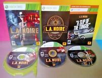 L.A. Noire - Microsoft Xbox 360 Rare Game Complete  Very Good ! Tested + Works