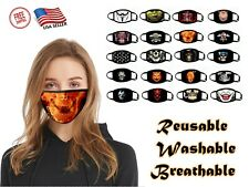 3D Printed Fashion Face Mask Cover Breathable Washable Reusable Funny Halloween