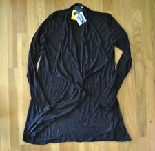 NWT Womens COMPANY ELLEN TRACY Black Buttonless Cardigan Size L Large