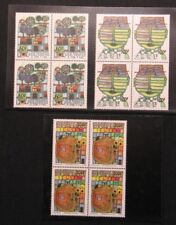 Senegal , paintings of  Friedensreich Hundertwasser in block of four MNH LUXUS