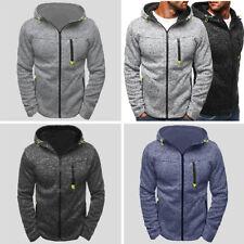 Otoño invierno con capucha cremallera y chaqueta polar para hombre con Capucha
