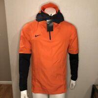 Nike Hoodie Football Jacket Running Windbreaker Orange CI4477-891 Mens Size S
