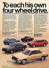 1986 Subaru Wagon Brat 4wd Sedan Original Advertisement Print Art Car Ad J718