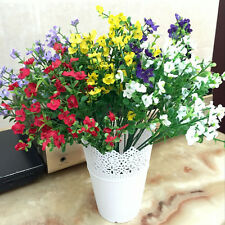 7 Fork 14 Grass 42 Flowers Artificial Potted Plant Lavender In/outdoor Home Best