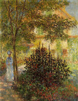 Oil painting Claude Monet Camille Monet in the Garden at the House in Argenteuil
