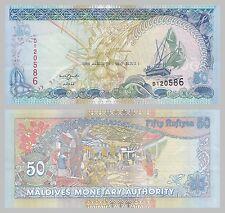Maldives / Malediven 50 Rufiyaa 2008 p21b unc.