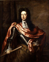 Huge art Realism oil painting male portrait King William III of England canvas