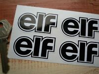 ELF Black & White Shaped Car Bike STICKERS 50mm Set of 4 Rally Race Racing Small