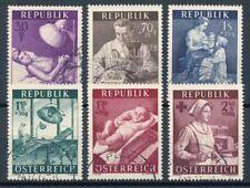 Gestempelte ungeprüfte Briefmarken Satz österreichische