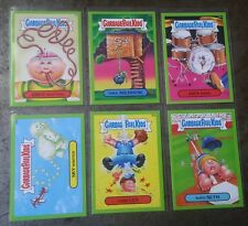 6 Garbage Pail Kids 2015 SERIES 1 GREEN BORDER #1B , 12A , 28A , 54A , 56A & 63B