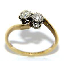 Mujer / 18ct Oro Amarillo Antiguo Tamaño Del Anillo De Compromiso Diamante I 1/