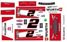 #2 Brad Keselowski WURTH Ford 2014 1/24th - 1/25th Scale Decals