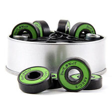 8x Stainless Dark Wolf Skateboard Bearings ABEC-9 Speed with 4x Spacer Se.AU