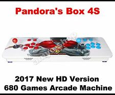 2017 Ultra Slim Metal Pandora's box 4S Double Player Arcade Console 680 HD Games