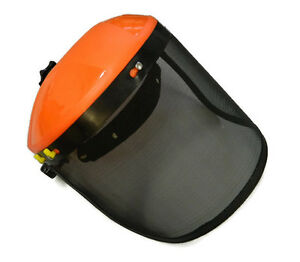 MOWING CONTRACTOR CHAINSAW BRUSHCUTTER FACE SHIELD SAFETY VISOR MESH